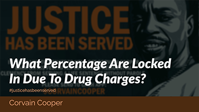 What Percentage Are Locked In Due To Drug Charges? – Corvain Cooper